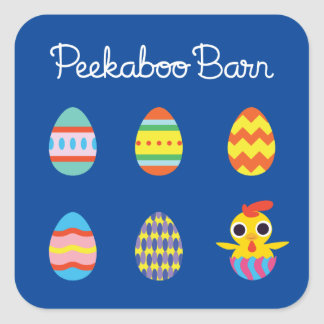 Peekaboo Barn Easter | Easter Eggs Square Sticker
