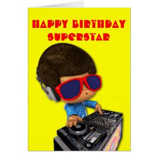 Peekaboo DJ afro Card