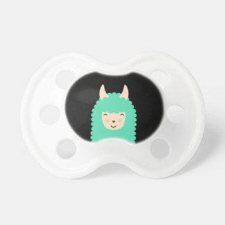 Peekaboo Emoji Llama Pacifier