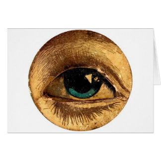 PeekABoo Eye Eyeball Watching You Weird Add Text Card