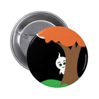 Peekaboo Ghost 2 Inch Round Button