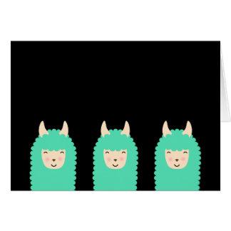 Peekaboo Happy Llama Card