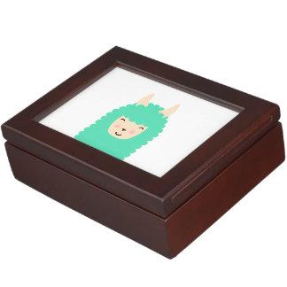 Peekaboo Llama Emoji Keepsake Box