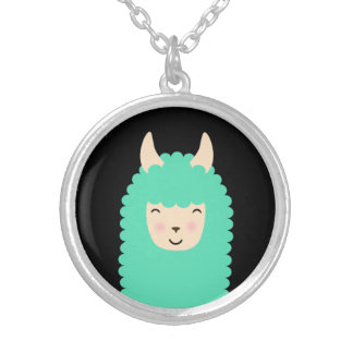 Peekaboo Llama Emoji Necklace