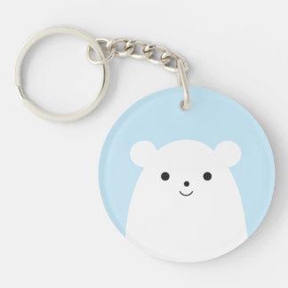 Peekaboo Polar Bear Acrylic Keychain