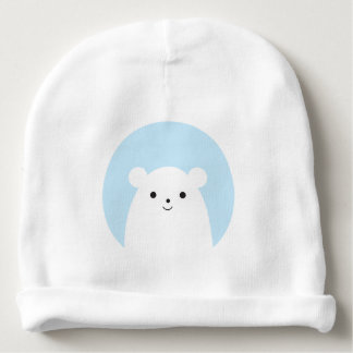 Peekaboo Polar Bear Baby Beanie