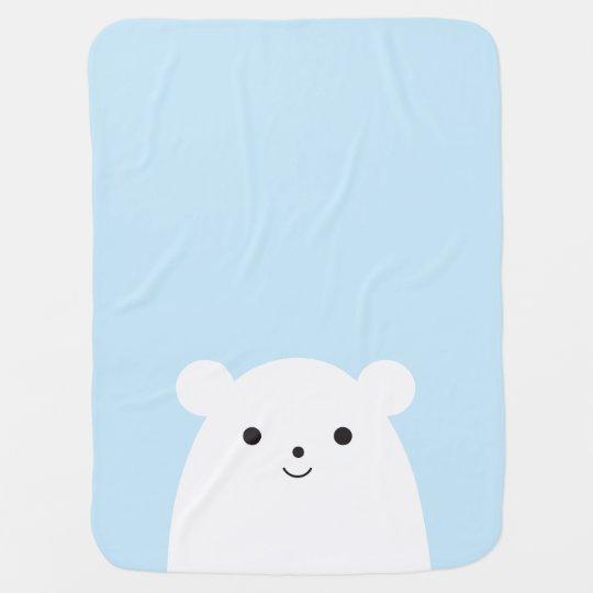Peekaboo Polar Bear Baby Blanket