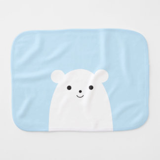 Peekaboo Polar Bear Baby Burp Cloth