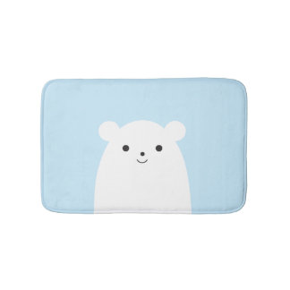 Peekaboo Polar Bear Bath Mat