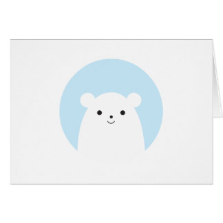 Peekaboo Polar Bear Card