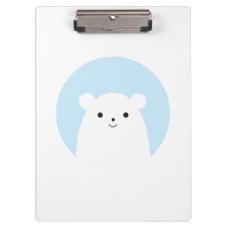 Peekaboo Polar Bear Clipboard