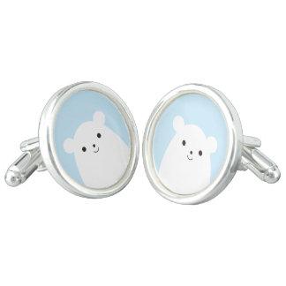 Peekaboo Polar Bear Cufflinks