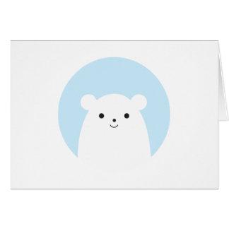 Peekaboo Polar Bear Holiday Greeting Card