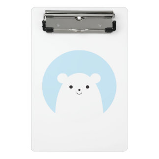 Peekaboo Polar Bear Mini Clipboard