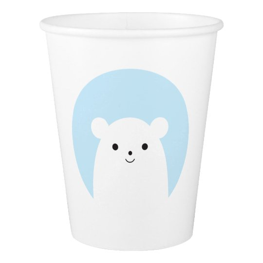 Peekaboo Polar Bear Paper Cup