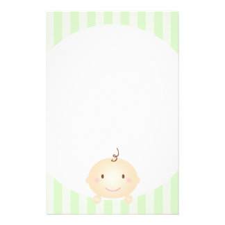 Peekaboo - Prevent Mommy Brain Green Stationery