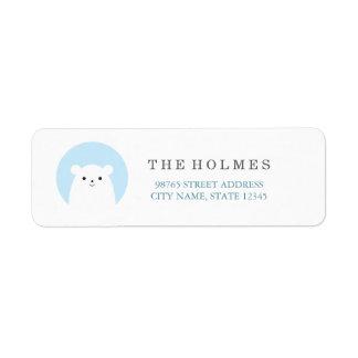Peekboo Polar Bear Holiday Address Return Label Return Address Label