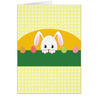 Peeking Bunny Happy Ostara Card