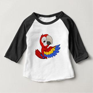 Peeking Cartoon Parrot Baby T-Shirt