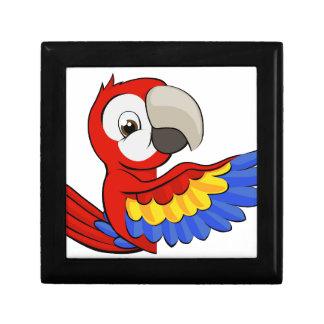 Peeking Cartoon Parrot Jewelry Box