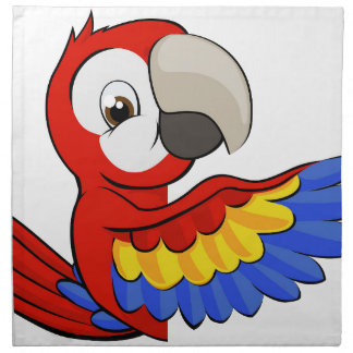 Peeking Cartoon Parrot Napkin