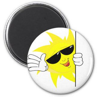 peeking cartoon sun magnet
