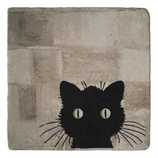 Peeking Cat Trivet