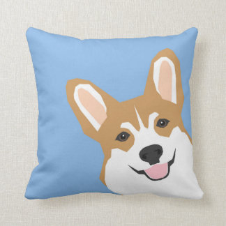 Peeking Corgi Pillow Cute corgi illustration corgi