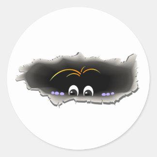 Peeking Creature Classic Round Sticker