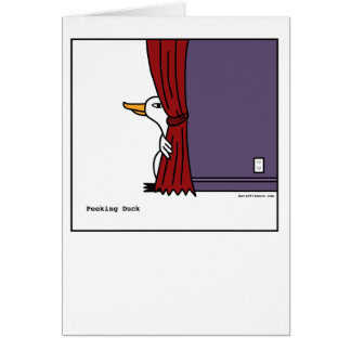 Peeking Duck - Greeting Card