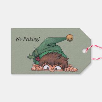 Peeking Elf Pack Of Gift Tags