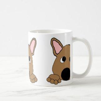 peeking french bulldog fawn coffee mug