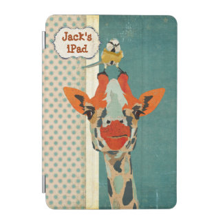 Peeking Giraffe & Little Bird iPad Case iPad Mini Cover