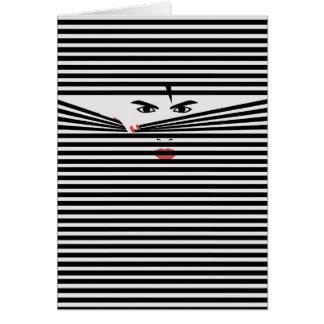 Peeking Man (White) Card