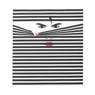 Peeking Man (White) Notepad