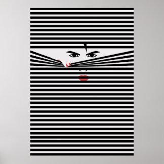 Peeking one (White) Poster