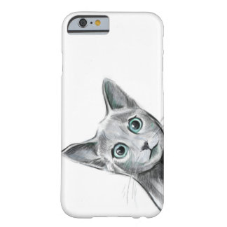 Peeking Russian Blue Barely There iPhone 6 Case