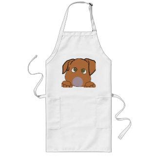 peeking vizsla long apron