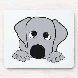peeking wimaraner gray mouse pad