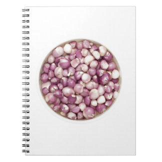 Peeled shallots spiral notebook