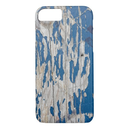 peeling blue paint iPhone 7 case