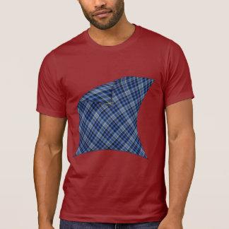 Peeling Blue Plaid T-Shirt