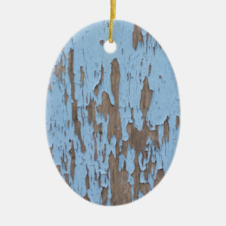 Peeling Paint Ceramic Oval Ornament