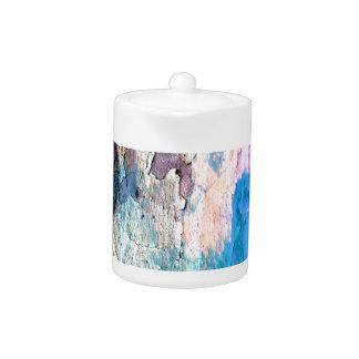 Peeling Paint in Blue, Purple, Pink