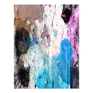 Peeling Paint in Blue, Purple, Pink Letterhead