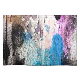 Peeling Paint in Blue, Purple, Pink Placemat