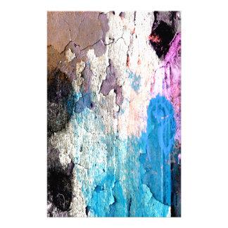 Peeling Paint in Blue, Purple, Pink Stationery