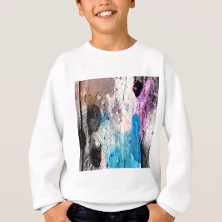 Peeling Paint in Blue, Purple, Pink Sweatshirt