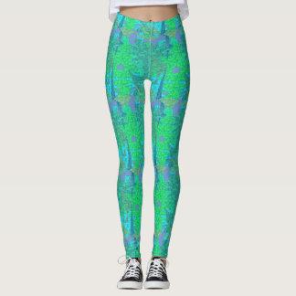 Peeling Paint Splatter Pastel Distressed Look Leggings