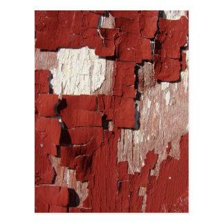 Peeling Red Barn Paint Postcard